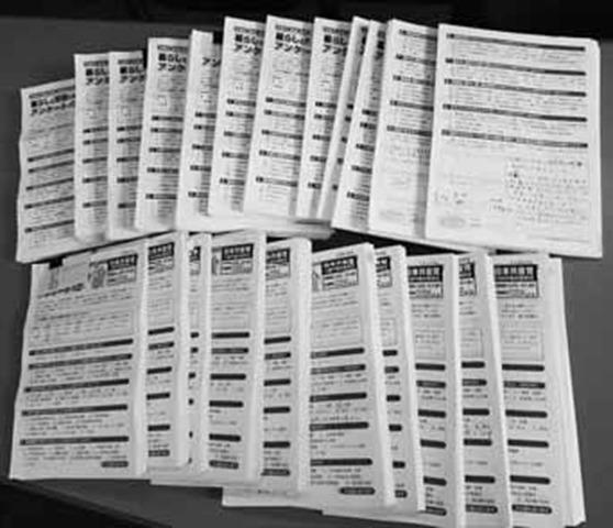 2018年市民アンケートに寄せられた回答4500通超